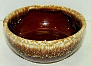 Vintage Kathy Kale Brown Drip Glaze Pottery Dessert Bowl Handcrafted Fruit Dish