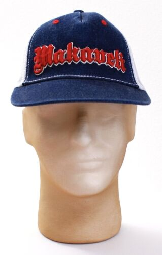 Makaveli Signature Red White Blue Mesh Back Trucker Hat Snapback One Size Men/'s