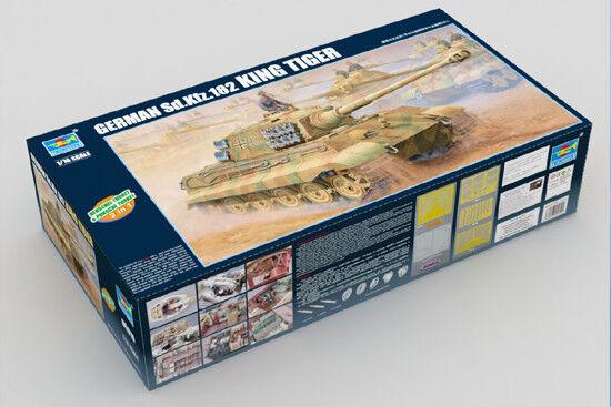 1 16 Trumpeter King Tiger Tiger Tiger (Full Interior) 2 in1 Henschel Porsche Turrets  910 221