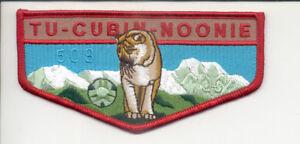 TU CUBIN NOONIE OA LODGE 508 UTAH NATIONAL PARKS 1996 NOAC FLAP BYU COUGARS BLUE
