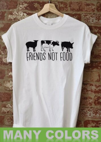 Friends Not Food Shirt Vegan Vegetarian Pet Lovers Tee Love For The Animals