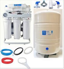 Ro Reverse Osmosis Water Filtration System 250 Gpd 10 G Tank Booster Pump Lc