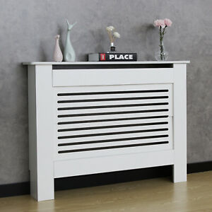 Modern-Radiator-Cover-Wall-Cabinet-White-Horizontal-Slats-Wood-MDF-Grill-Shelf