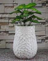 Modern Oval Garden Plant Flower Square Pot Planter White Tp5032