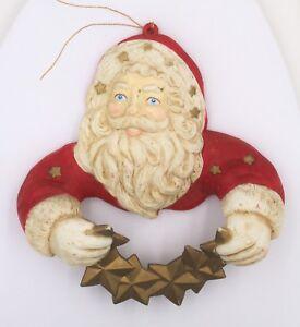 Vintage-1991-Silvestri-Christmas-Tree-Ornament-Santa-Claus-Garland-Holder