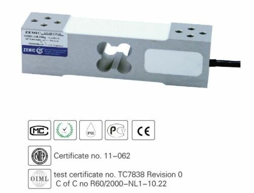 ZEMIC NTEP L6E 300kg 3B load cell IP65 With 6.6 ft Cable