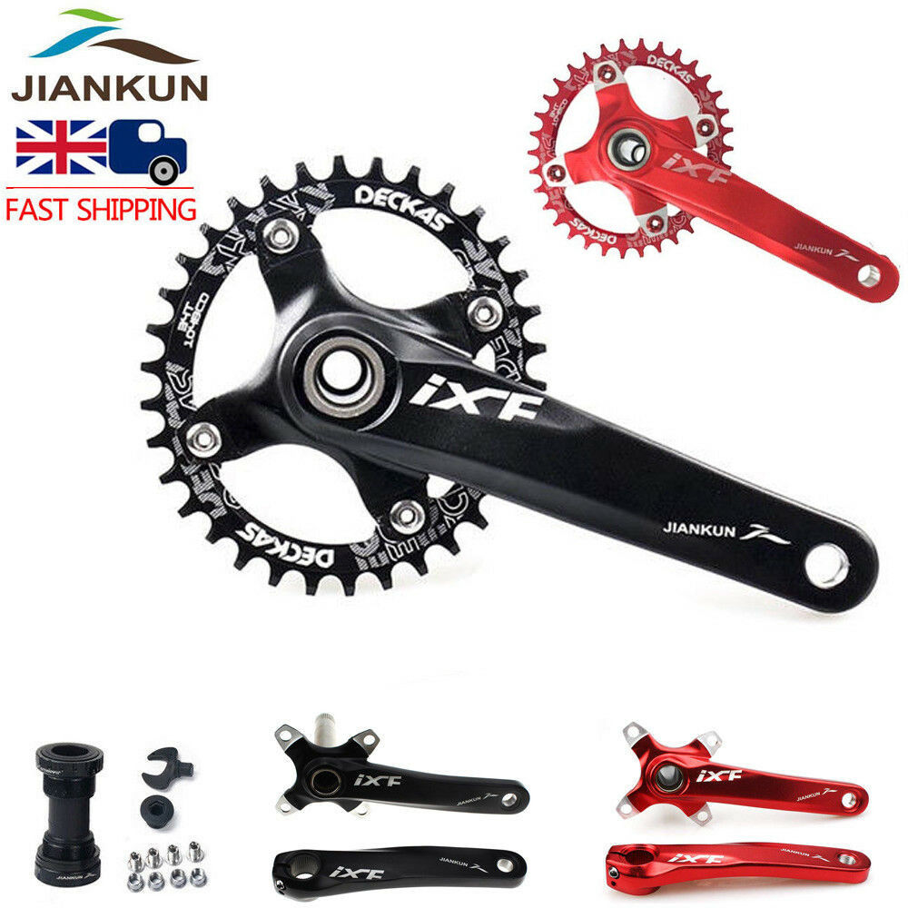 104BCD MTB Road Bike Crankset 170mm Crank  & Narrow Wide Single Chainring & BB  fast shipping and best service