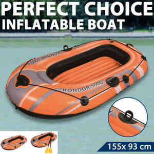 Bestway Inflatable Boat Kondor 1000 Water Sport Kayal Cnaoe with/without Oar