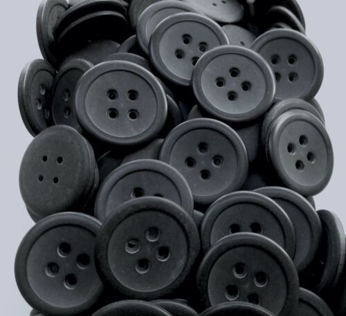 Large 23mm 30mm 38mm Matt Black 4 Hole Coat Buttons Button Q726A Q726B Q726C