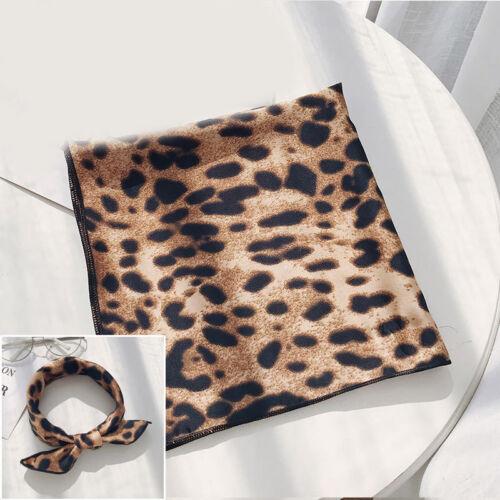 Elegant Women Square Head-Neck Women Scarf Silk Feel Satin Small Hair Band Tie