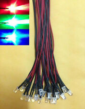 (30 PCS) 5mm RGB flashing Color SLOWLY Changing wired LED 5v 12V blue red green