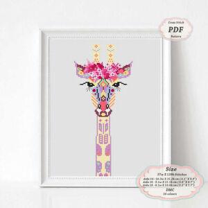 Mandala-Giraffe-Modern-Embroidery-Cross-stitch-PDF-Pattern-086