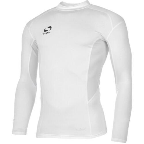 sondico baselayer white top mens size x small small medium large x large new ls