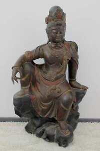 Kwan-Yin-Zi-Zai-Buddha-Figura-Legno-125cm-Guanyin-Cina-Statua-asienlifestyle