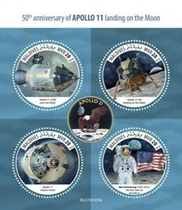 Maldives-2019-Apollo-11-Moon-Landing-4-Stamp-Sheet-MLD190309a