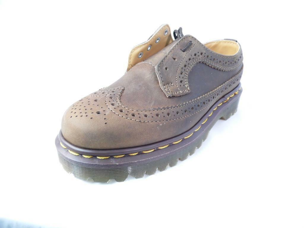 DR BROWN MARTENS 3989 AZTEC WINGTIP BROWN DR CRAZY HORSE BROGUE MIE UK MADE NOS NWOB 0f528b