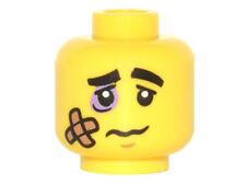 LEGO - Minifig, Head Black Eyebrows, Lavender Black Eye, Bandage & Frown Pattern