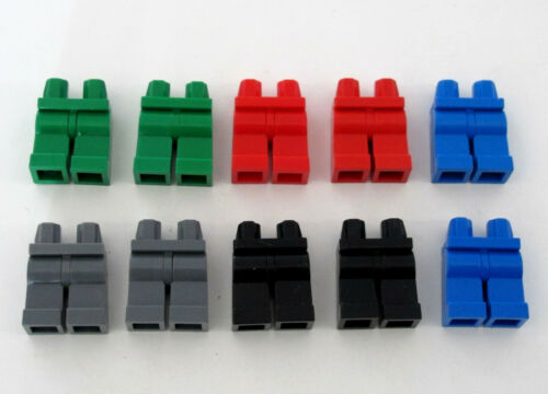 10 x Lego Minifigure Hips and Legs Mix Colours