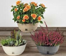 Gerla paglia bama made in italy 32x16x42,5h antracite panna vaso parete fioriera