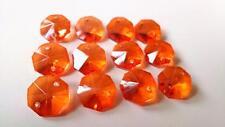 50 Orange Octagon Chandelier Wedding Crystals Beads Prisms Suncatcher Octagons