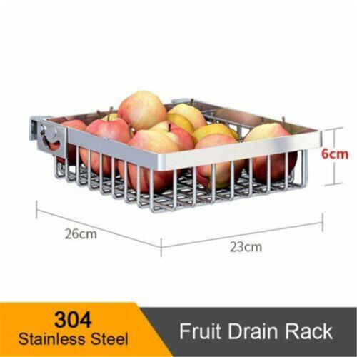 New 304 Stainless Steel Kitchen Shelf  Drying Drain Storage Holders Plate Dish