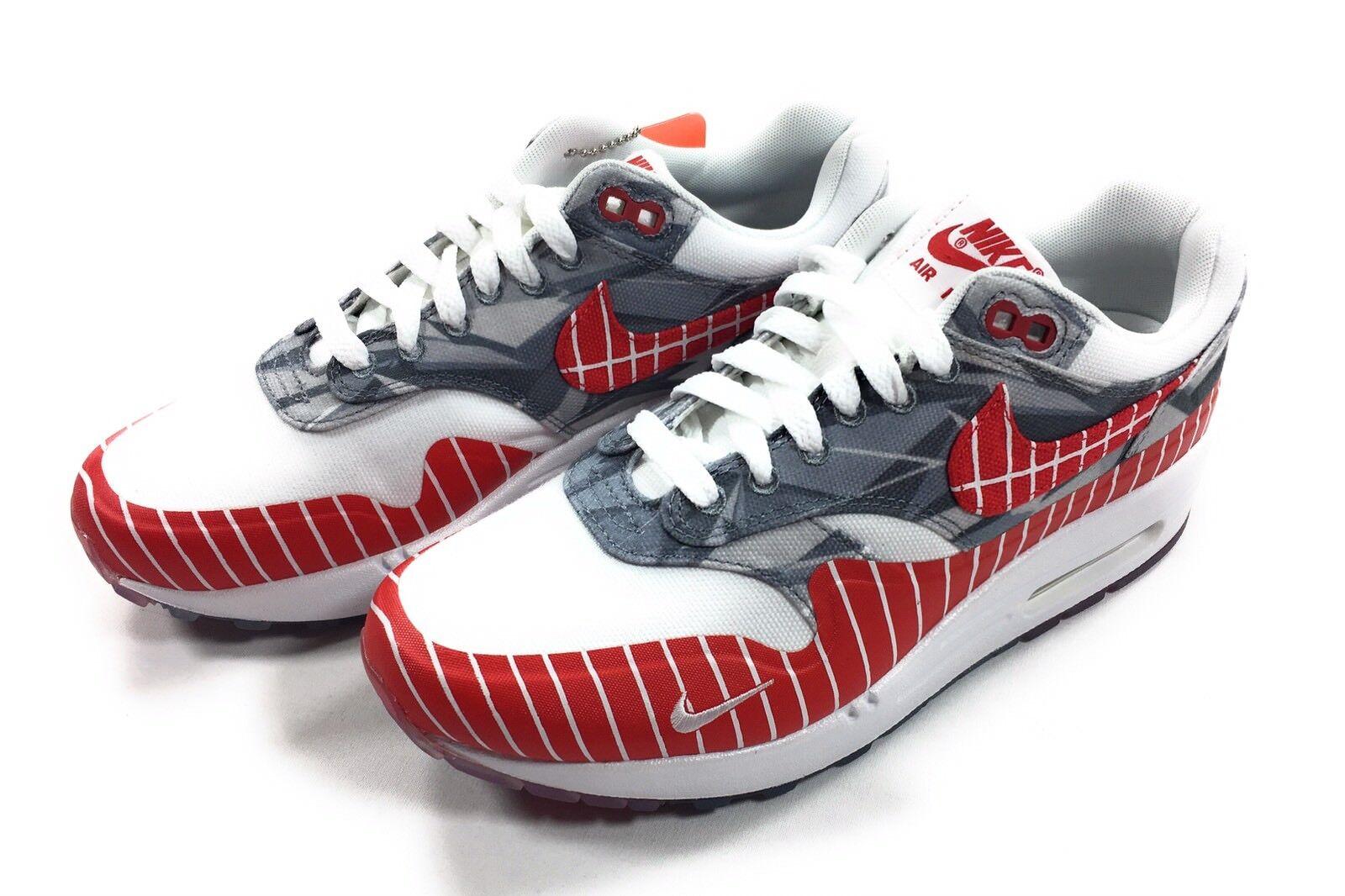 Nike hombre 1 zapatos 6.5 Air Max 1 hombre LHM Blanco Universidad Rojo los primeros ah7740-100 f3e20f
