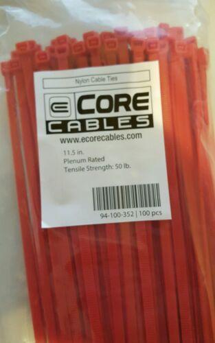 200 11.5in HighTemp Plenum Cable Wire Ty Wrap Fastener Zip Ty Tie Air Handling