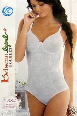 Body Donna Lepel Con Ferretto Bianco Nero Nudo Tg Da 3 A 7 Coppa C O D - 384