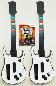 2 NEW Nintendo Wii GUITAR HERO Controllers + GH3 Video Game Kit bundle set 3 III
