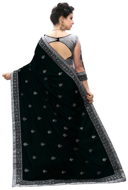 Silk Designer Embroidery Sari for Indian Ethnic Wedding Party wear Saree K710