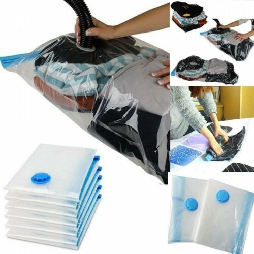 6 Large Jumbo Strong Vacuum Storage Bags Space Saver Bags Vacum Compression Bag
