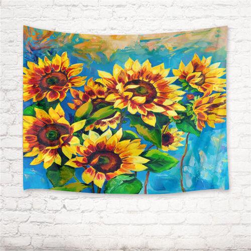 Unicorn Moon Sun Tapestry Wall Hanging DIY Home Decor Multi Design Spring Flower