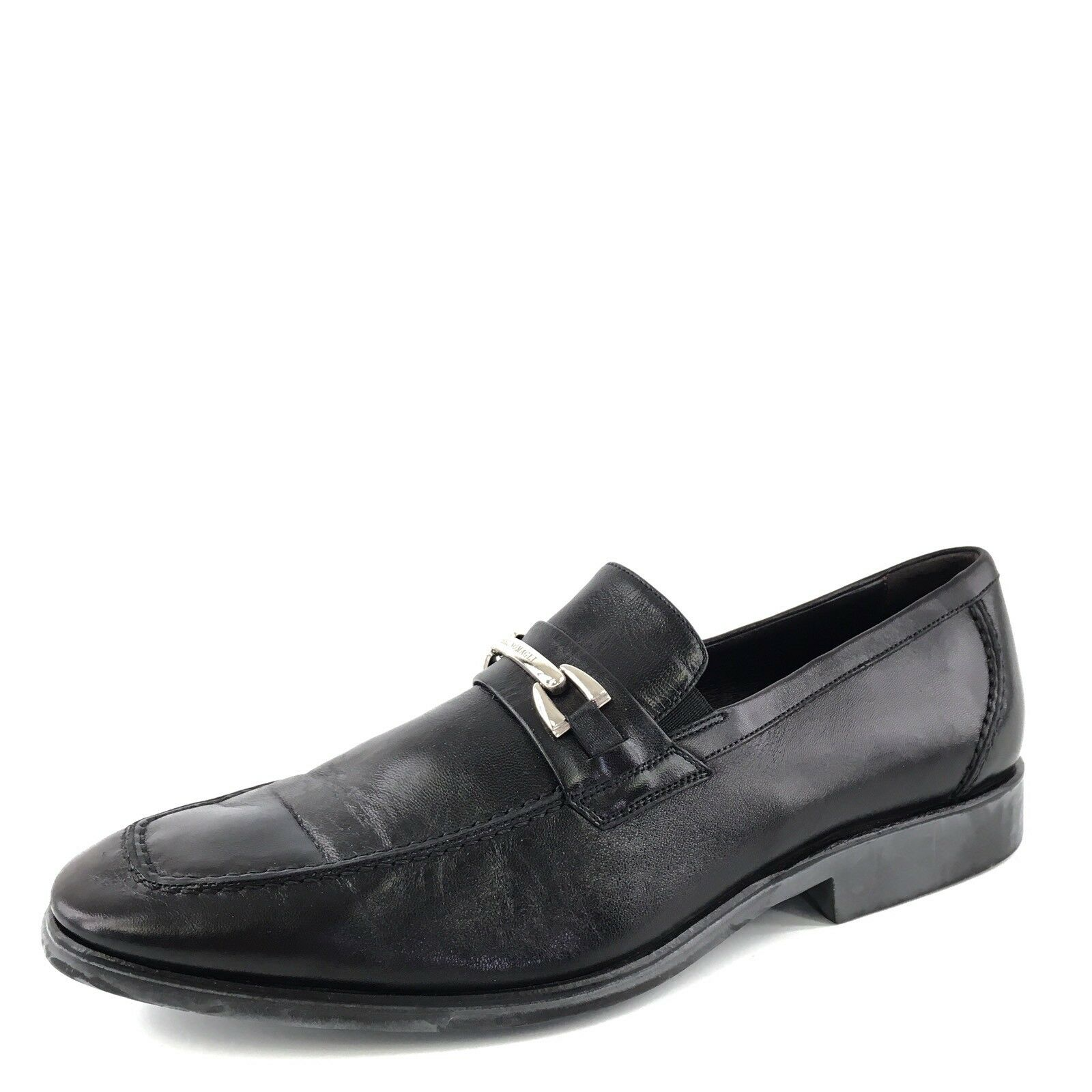 Bruno Magli Black Leather Bit Loafers shoes Men's Size 9.5 M