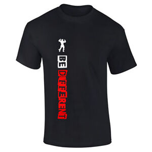 Be-different-Gym-Printed-T-shirt-MMA-Training-Gym-Bodybuilding-Motivational