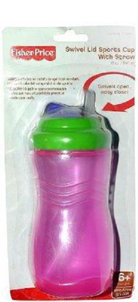 Colorful Fisher Price Sports Cup with Straw Swivel ...