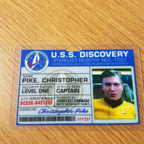 Star Trek Discovery Id Badge Captain Christoper Pike