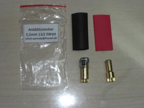 anti foudre Antiblitz-Goldstecker 5,5 mm 11 Ohm 3 W SMD à 14 S