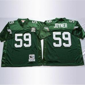 Details about Vintage Philadelphia Eagles 1992 Seth Joyner #59 Green Stitched Throwback Jersey