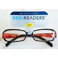 Foster Grant Magnivision Black Burgundy Glasses (m70) Choose Your Strength