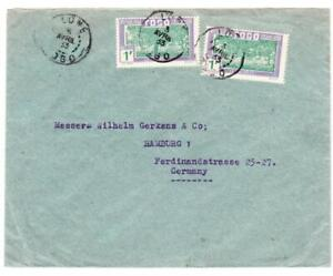 Togo FRENCH-Sc#241(x2)-LOME 3/AVRIL/33-COMERCIAL USE TO GERMANY-SCARCE