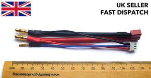 Balance-LiPo-cargador-Cable-Cable-Deans-Enchufe-a-4mm-amp-2mm-Banana-Conectores