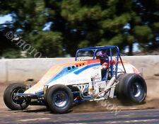 JEFF GORDON SILVER CROWN SPRINT CAR PHOTO SACRAMENTO MILE 1990