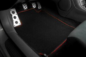 Black Nylon Carpet Floor Mat Front Rear 4Pcs OE Style For 00-05 Toyota Celica