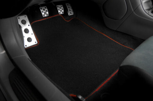 Black Nylon Carpet Floor Mat Front Rear 4Pcs OE Style For 08-12 Nissan Altima