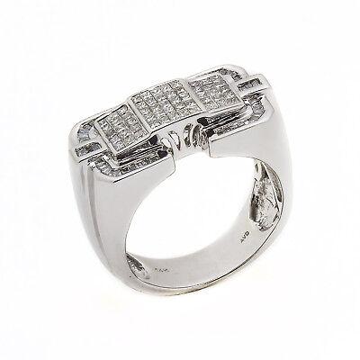 14k Weiß Gold Diamant Traube Herrenring 2,00 Ct Größe 10 14.5 Gramm 100% Echter Waren Jeder Beschreibung Sind VerfüGbar