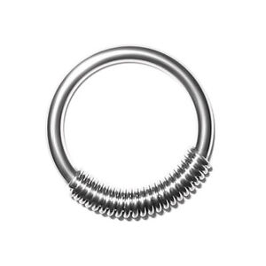 Cobra coil ring piercingring f r ohrpiercing - Lippenpiercing ring ...