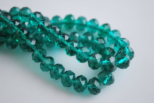 100Pcs 6x4mm Faceted Glass Loose Beads Spacers Rondelle Findings 110Color F&P