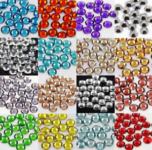 1000-x-GLUE-ON-4mm-FLAT-BACK-RHINESTONE-CRYSTAL-SHOES-BAGS-GEMS-NAILART-GEMSTONE