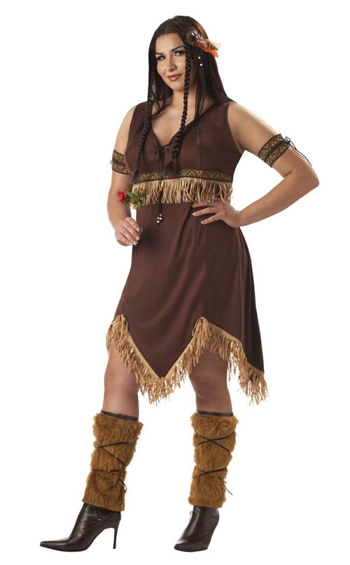 dd46c44f87d Indian Princess Pocahontas Adult Women Plus Size Costume