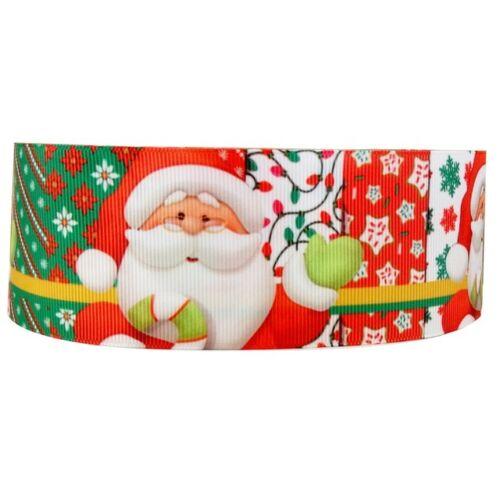 Decorazione per Torta Craft Nastro Compleanno Decorazione 1m 50mm-Natale Babbo Natale